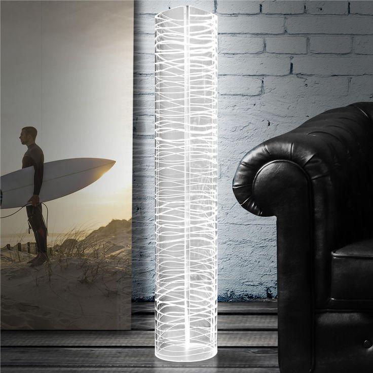 Lampada da terra Piantana HALF MOON BAY Ø25xh120 cm in Cristallo acrilico | Vesta | Stilcasa.Net: lampade da terra