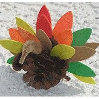 This Pinecone Turkey is a simple craft that even little kids can do with a bit of help. Supplies are inexpensive and easy to find, and instructions are eas