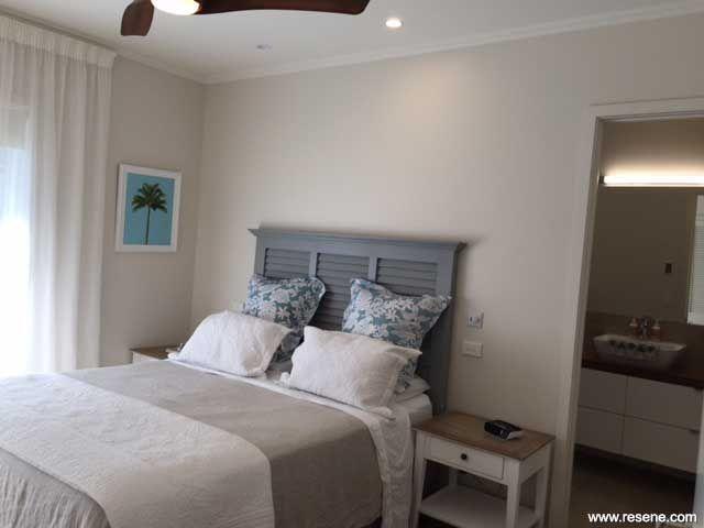 Resene Albescent White bedroom