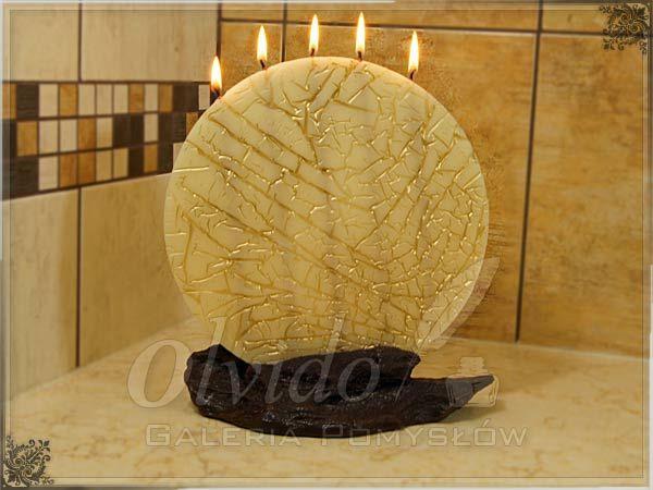Ręcznie robione świece dekoracyjne - LUNA