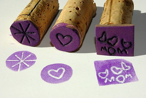 DIY Foam Stamps via Mom's Crafty space allow for creative freedom and teach about negative space, too