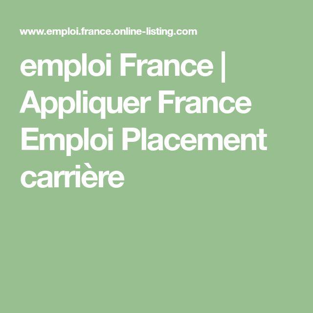 emploi France | Appliquer France Emploi Placement carrière