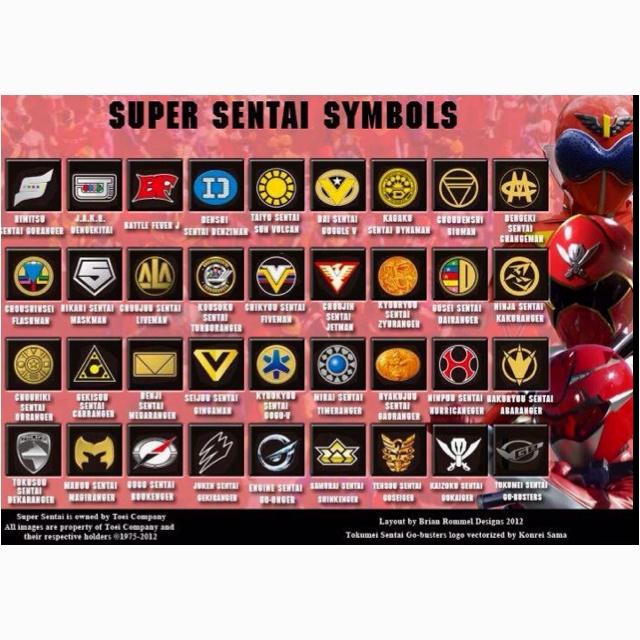 Super sentai symbols