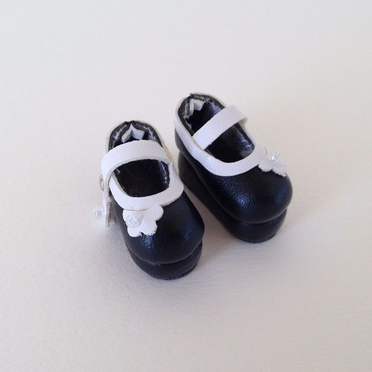 Handmade Blythe Doll Shoes - Black Maryjanes #Unbranded #ClothingAccessories