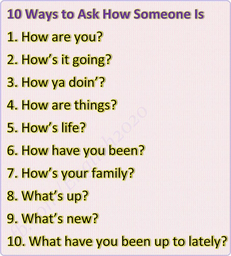 Forum | ________ English Grammar | Fluent Land10 Ways to Ask How Someone Is…