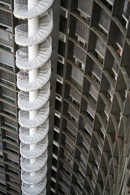 Edificio Copan stairs by Oscar Niemeyer. An inspiration to every authentic 'paulista'.