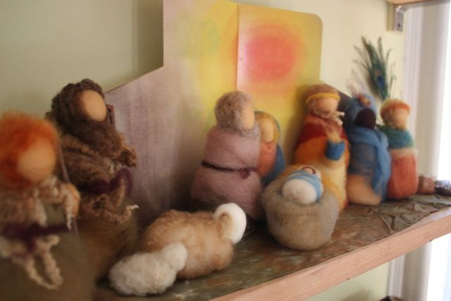 nativity - needle felt
