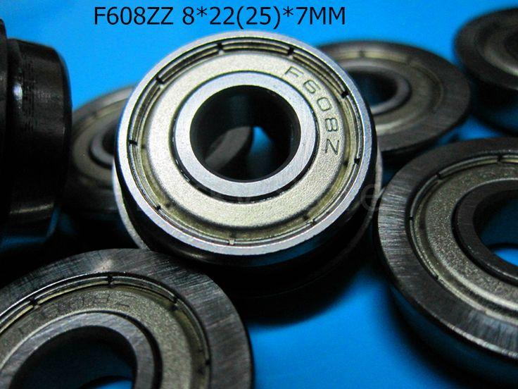 F608ZZ 608 Flange bearings F608 F608Z F608ZZ 8*22&25*7mm chrome steel bearing