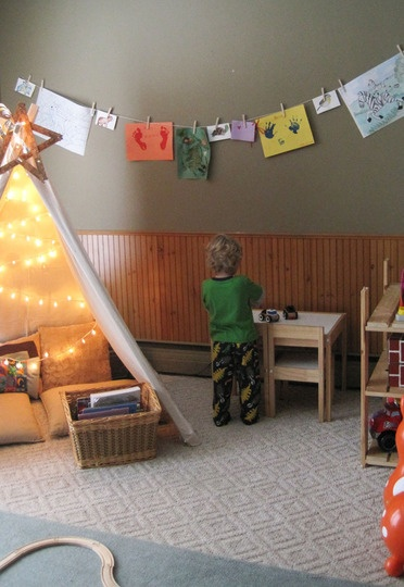Henry's Reading Tent Playroom | Apartment Therapy