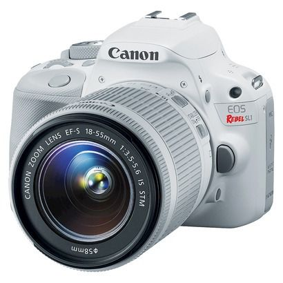 Canon EOS Rebel SL1 18MP Digital SLR Camera with EF-S 18-55mm IS STM Lens - White