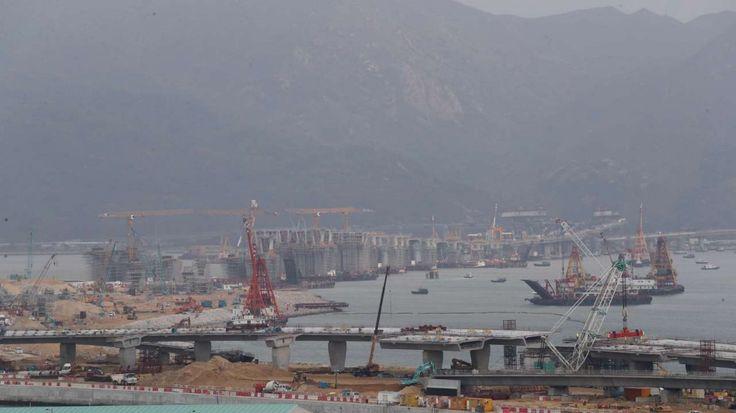 The Hong Kong-Zhuhai-Macau Bridge, as seen from Hong Kong International Airport. Photo: Nora Tam