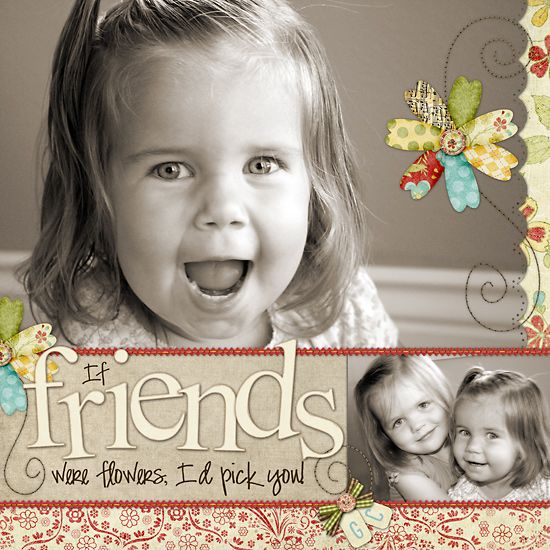 Sweet Friends & Flowers Page...by Heather at The Shabby Shoppe.