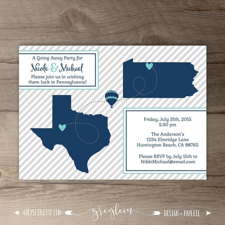 The 25+ best Going away party invitations ideas on Pinterest ...