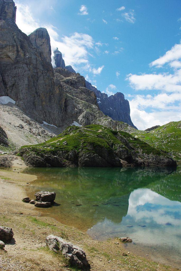Lake Coldai, Dolomites, Veneto, Italy