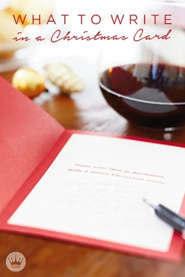 What to Write in a Christmas Card | Oh, what fun it is to sit down at Christmastime and write a little something to the people who've added to your joy all year long! This guide offers tips and inspiration from Hallmark writers to get you started with your Christmas cards, whether you're writing to one or 100.