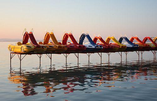 at rest, Lake Balaton, Hungary