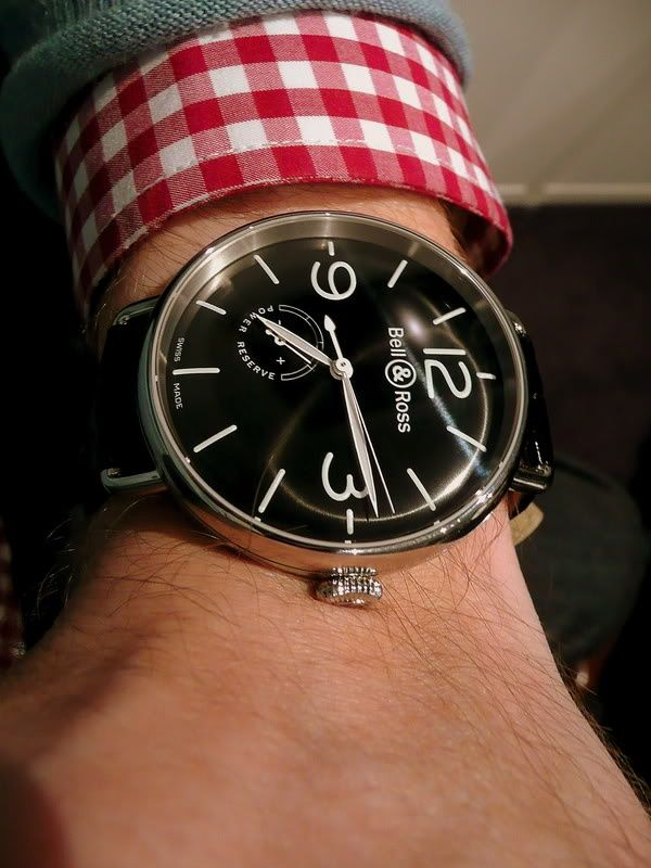 Men watches:  WWI reissue watch from Bell & Ross