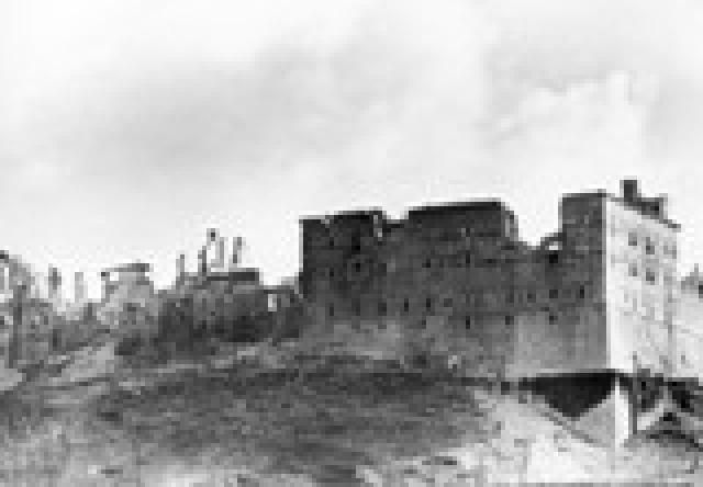 World War II: Battle of Monte Cassino: Ruins of the abbey of Monte Cassino