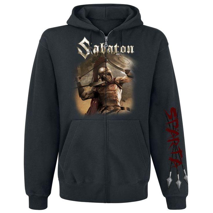 """Felpa uomo nera """"Sparta"""" dei #Sabaton."""