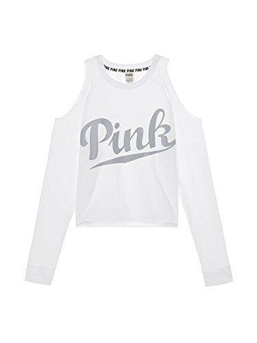 9dc07466c19 Victoria's Secret PINK NEW Cold Shoulder Crew Color White... | Pink ...
