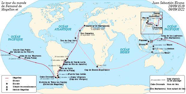 Magellan Elcano Circumnavigation Fr Fernand De Magellan Wikipédia Ferdinand Magellan Elcano Islands In The Pacific