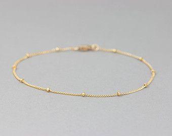 Delicate Heart Outline Bracelet / Dainty Charm by LayeredAndLong