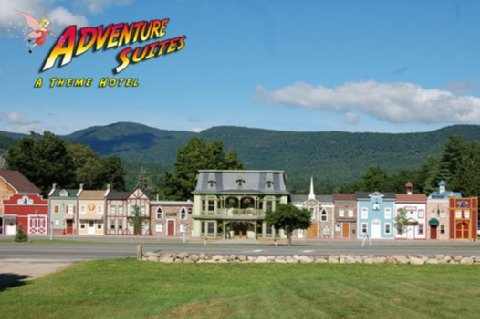 Adventure Suites. North Conway, NH.  Must stay in a room here next time I go to North Conway!