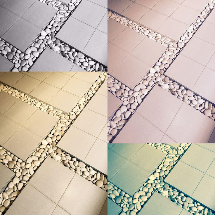 Bathroom tiles in our villa, Seminyak, Bali