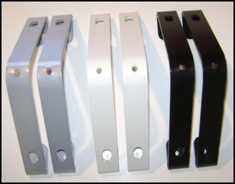 Groover Angle ceiling brackets for closets with a sloped ceiling