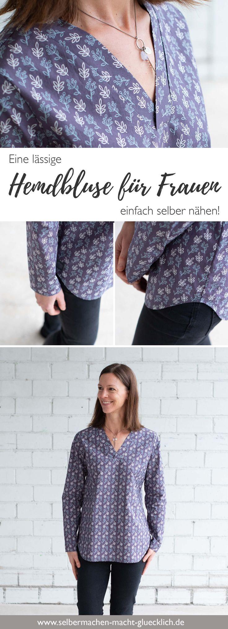 Eine lässige Hemdbluse für Frauen einfach selber nähen!