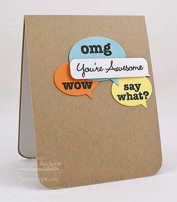 You're Awesome - Handmade Card