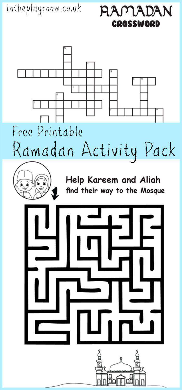 83 best ramadan for kids activities images on pinterest ramadan ramadan maze and crossword printable activities geenschuldenfo Images