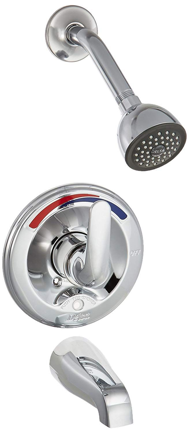 Delta Faucet T13691 Classic 13 Series Tub And Shower Trim Push