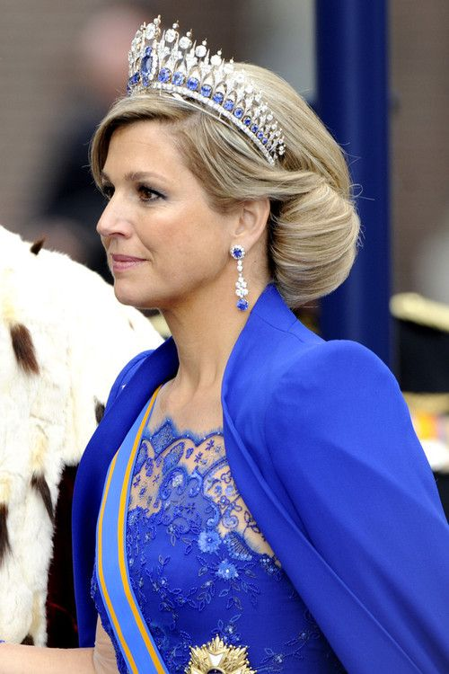 Queen Maxima - Mellerio Sapphire Tiara. Side view.
