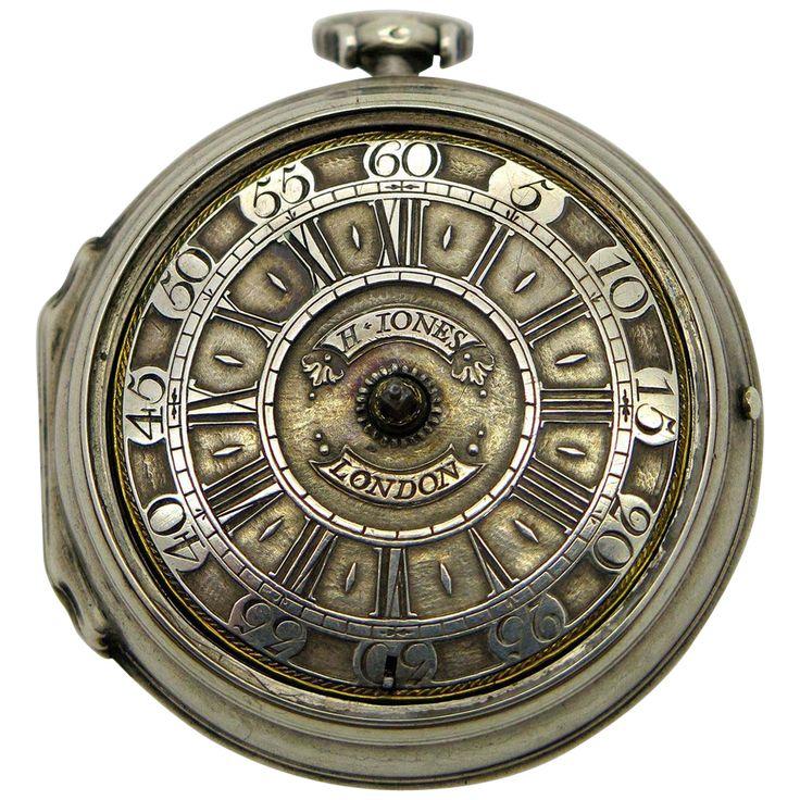 An Extremely Rare Georgian London Verge Fusse pocket watch by Henry Jones or Henricus Jones Circa 1695!
