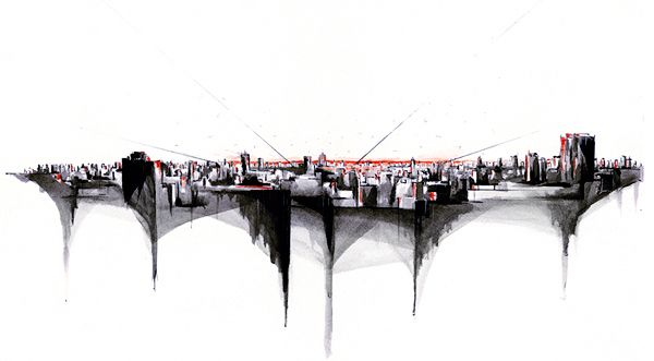 Skylines by Alexis Marcou, via Behance
