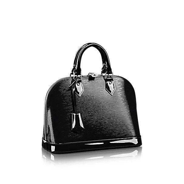 Descubra el Louis Vuitton Alma PM  El bolso más estructurado de los icónicos bolsos de Louis Vuitton. El original fue una creación de Gaston Vuitton, que le dió su nombre en honor al puente Alma, que conecta dos de los barrios más chic de París. El Alma PM en Epi Electric es una lujosa reinterpretación.