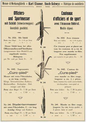 Victorinox Swiss Army Knives c1903