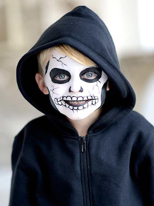 Halloween kids' face paint tutorial: Skeleton
