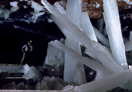 This picture is of a naturally forming Crystal Cave. Because my environment is a strange otherworldly crystal dimension, this picture was perfect inspiration to help me visualise what this dimensions is going to look like.