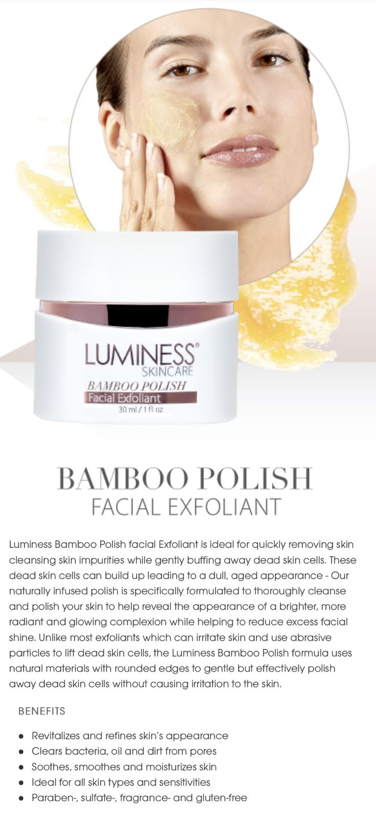 Bamboo Polish Facial Exfoliant LuminessAiress SkinCare