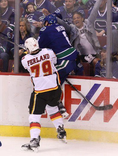 Calgary Flames Snapshots:Michael Ferland shows he's up to challenge of facing ... Michael Ferland #MichaelFerland