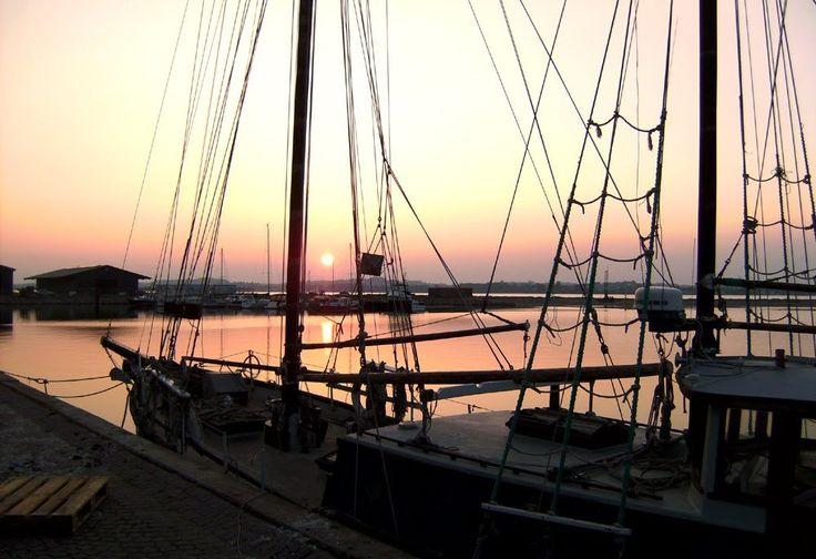 Sunset in Holbaek new harbour