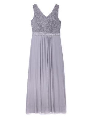grey lace bodice maxi dress (1)