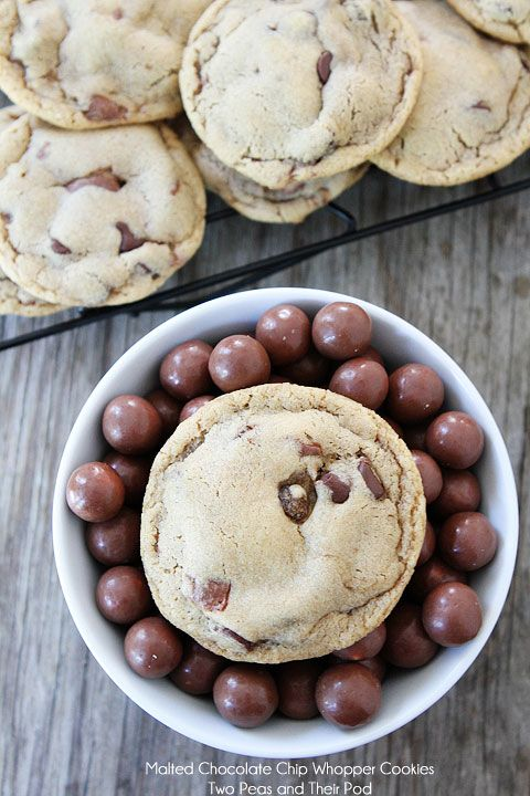 Malted Chocolate Chip Whoppers Cookies