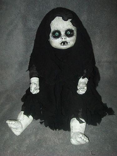 ooak horror gothic vampire baby doll halloween prop decoration ebay