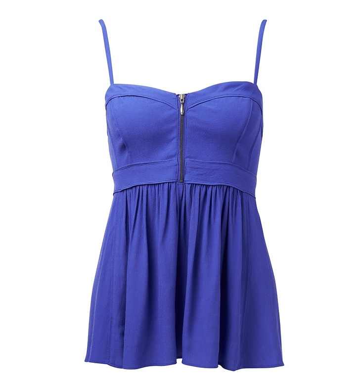 BETTE FRONT ZIP CAMISOLE