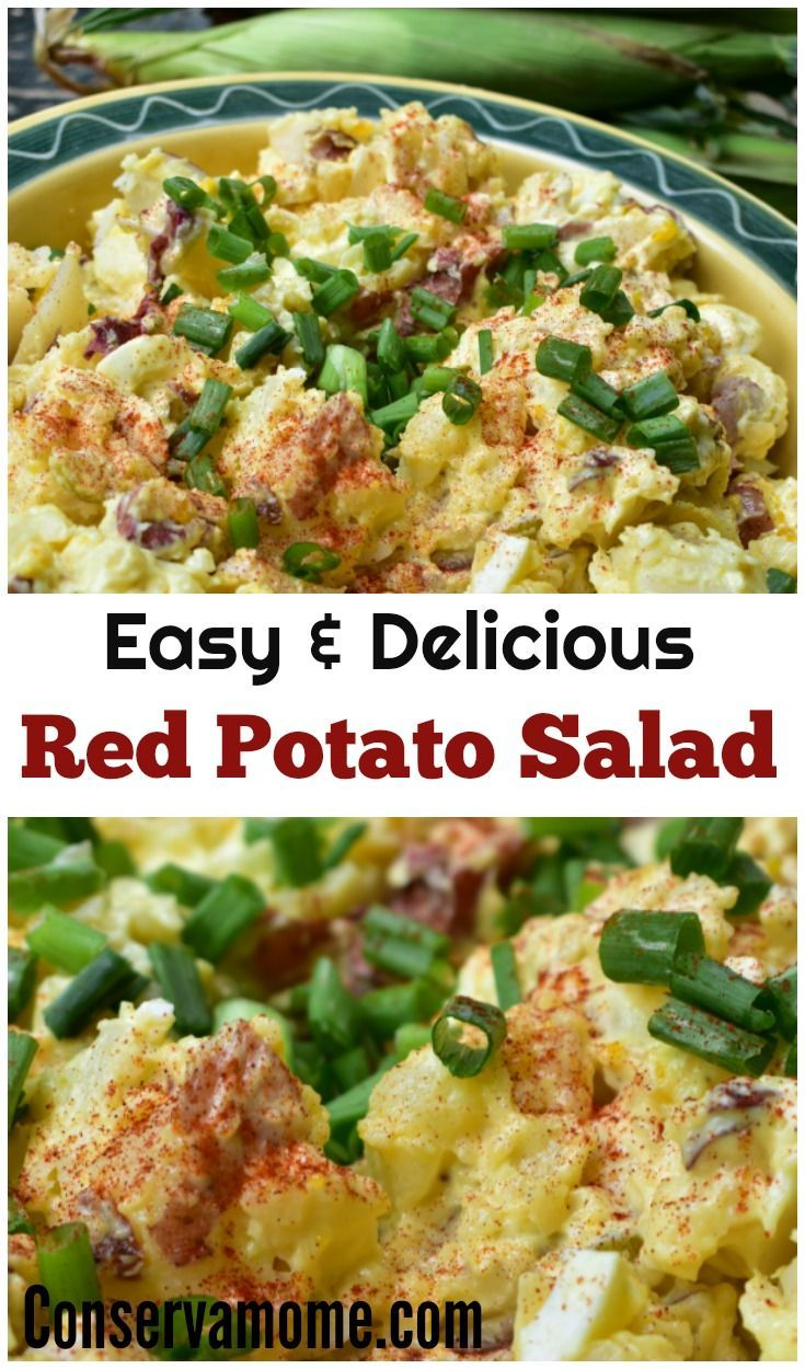 This Easy Red Potato Salad recipe is so simple to make you'll never buy store bought potato salad again! Delicious and Easy to make , no peeling potatoes!