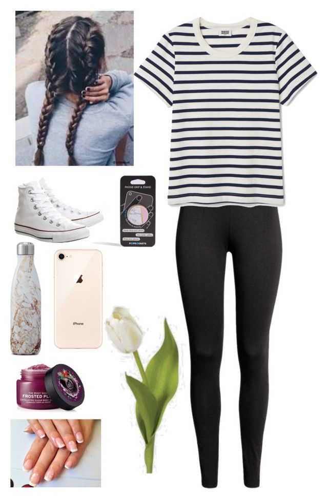 """""""What I'm Wearing Right Now"""" by courtneybentley ❤ liked on Polyvore featuring Converse, S'well and Topshop"""