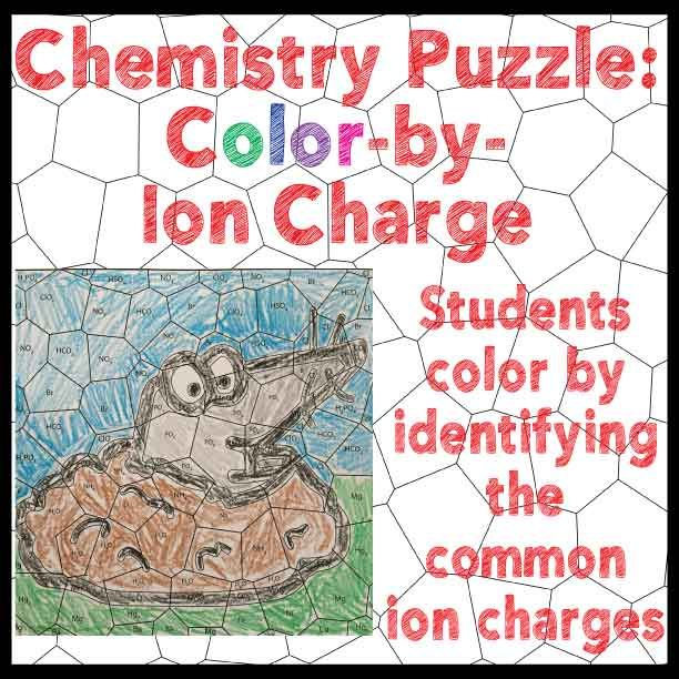 FREE Chemistry Puzzle Color By Ion Charge Students Identifying Common Charges